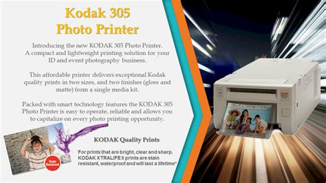 Printer Kodak 305 kodak 305 photo printer