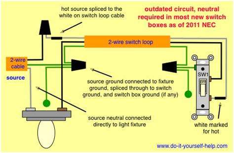 how to wire a house light electrical 2 wire switch loop controlling 2 outlets replacing with 3 wire to fix home