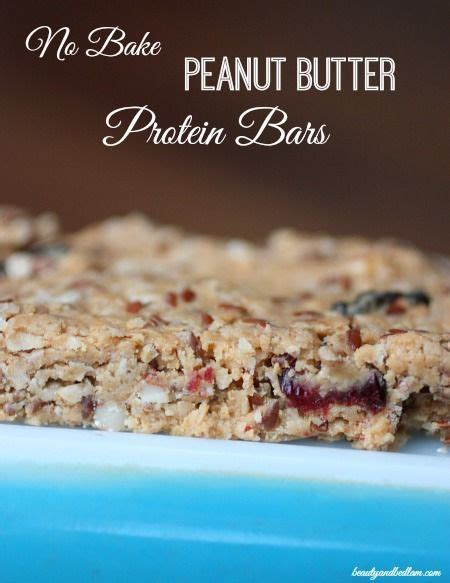 Garden Of Almond Butter Protein Easy No Bake Peanut Butter Protein Bars Our