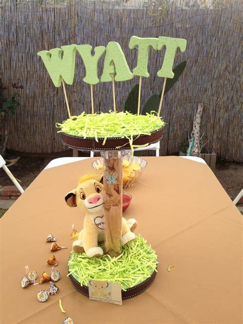 Lion King Centerpiece Wyatt Pinterest Lion King And King Baby Shower Centerpieces