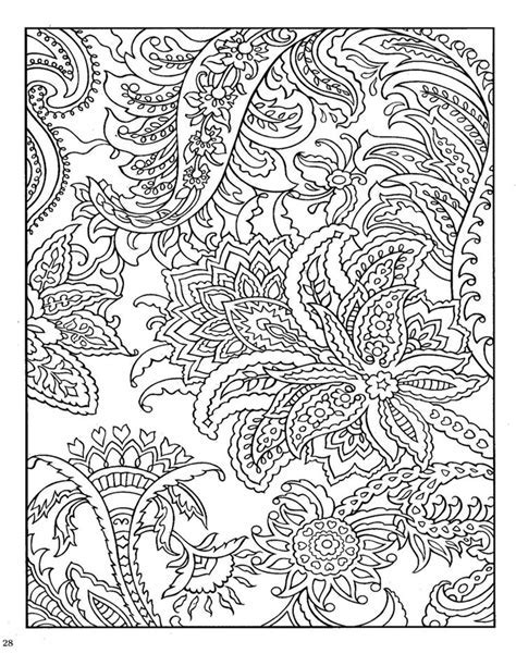Paisley Coloring Pages Printable Kids
