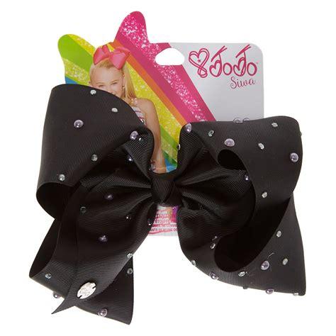Jo In Black jojo siwa large black pearl signature hair bow s us