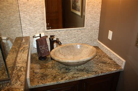 bowl sink for bathroom travertine vessel bowl bathroom sinks cleveland by architectural justice