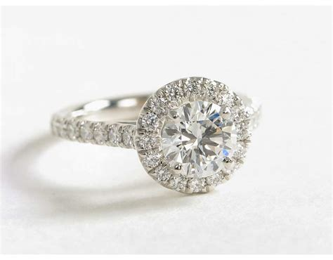 halo engagement ring in 14k white gold 1 2