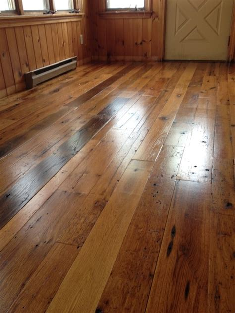 saco maine residence antique reclaimed oak wood flooring before and after craftsman
