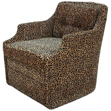 leopard recliner chair luxe pair of modern swivel lounge chairs in leopard at 1stdibs
