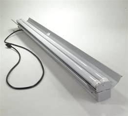 Led Shop Light Fixture 48 Watt 4 Ft Heavy Duty Shop Light Power Cord Fixture W 2x Led T8 24w 6500k Ebay