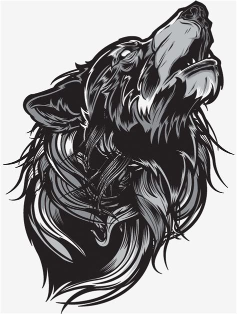 awesome grayscale vector illustration  joshua  smith