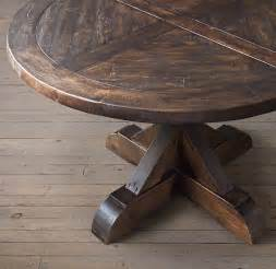 Round Expanding Dining Table dining table round dining table salvaged wood