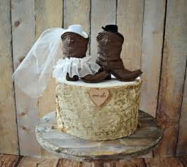 country cake topper cowboy boots wedding cake topper country wedding rustic