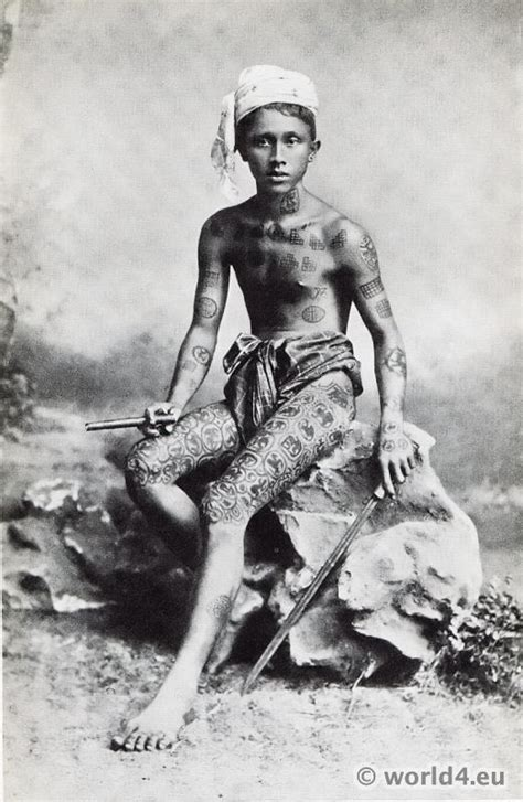 Frans Navy Tribal on boy from myanmar costume history
