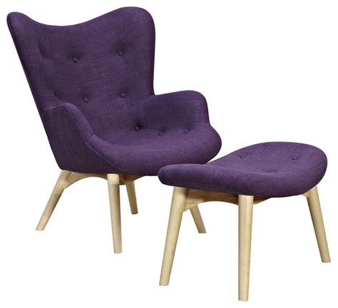 Plum Accent Chair Plum Purple Aiden Chair Midcentury Armchairs And Accent Chairs By Of A