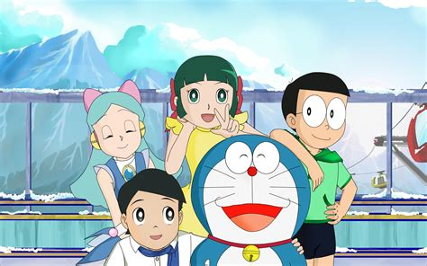wallpaper doraemon and friends download wallpaper 2880x1800 doraemon and his friends hd
