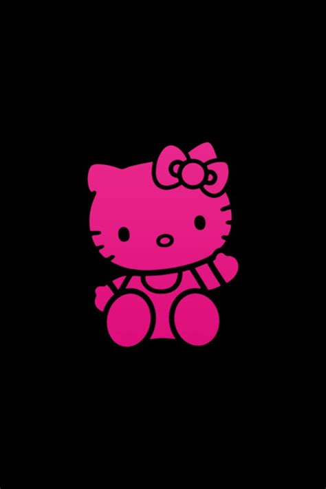 hello kitty wall wallpaper black and pink hello kitty wallpaper wallpapersafari