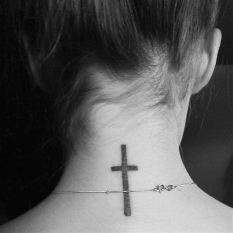 tattoo cross neck cross tattoo neck tattoo copyright my tattoos