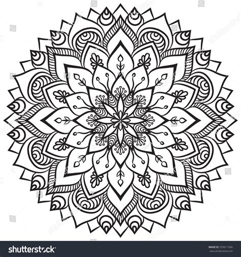 ottoman motifs mandala ethnic decorative elements hand drawn background