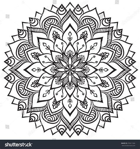 Mandala Ethnic Decorative Elements Hand Drawn Stock Vector S Dessin Coloriage A MandalaL