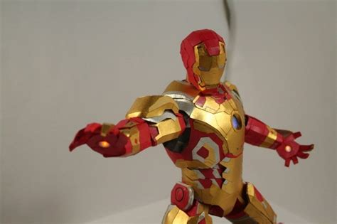 papercraft iron man mark  full leds modeled
