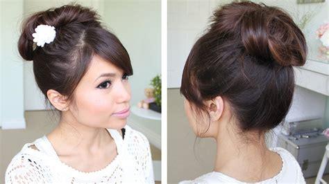 Messy Hair Bun Without Using Bobby Pins   Hair Tutorial