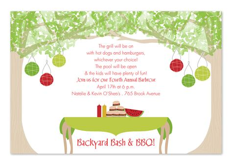 backyard invitations backyard dining invitations by invitation