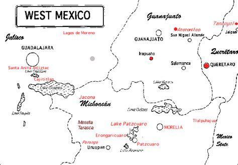 map of west mexico west mexico map blue lakes silver cities