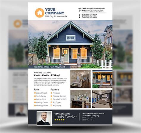 Real Estate Flyer Template V3 Flyerheroes Real Estate Chatbot Template