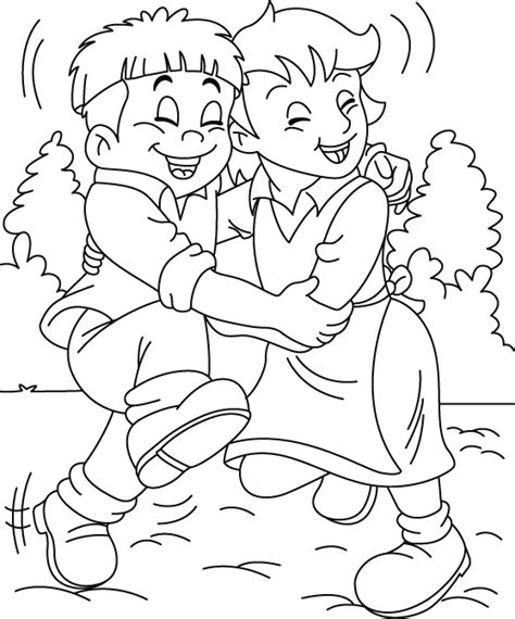 Friendship Coloring Page Friendship Day Coloring Pages Holiday Coloring Pages by Friendship Coloring Page
