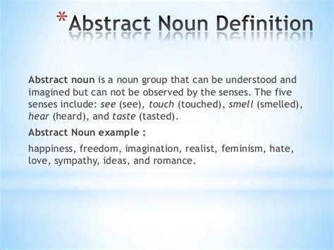 abstract nouns definition noun
