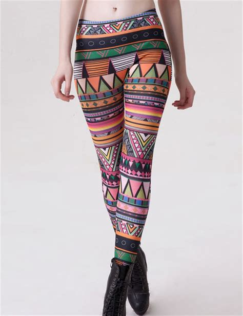 tribal pattern leggings outfit tw2417 hot sale fashion tribal pattern printed leggings
