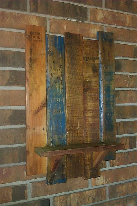 Rustic Country Wall Shelf by Reclaimed Wood Rustic Country Wall Shelf