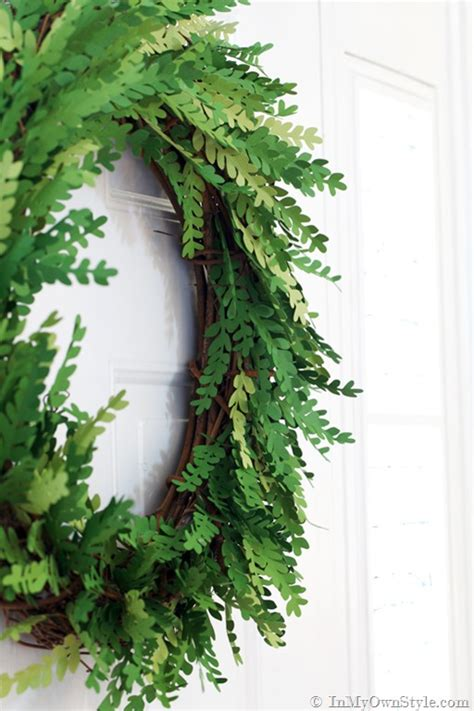How To Make A Paper Wreath - how i made a paper boxwood wreath in my own style