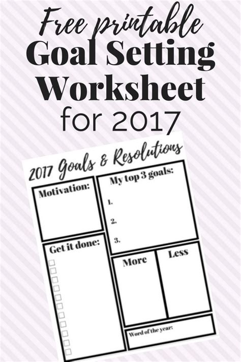 goal planning worksheet 8 free goal setting worksheet printables tip junkie