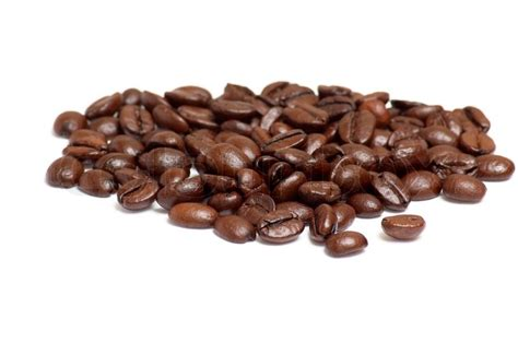 Papa Bean White Coffee aroma of coffee beans isolated on a white background