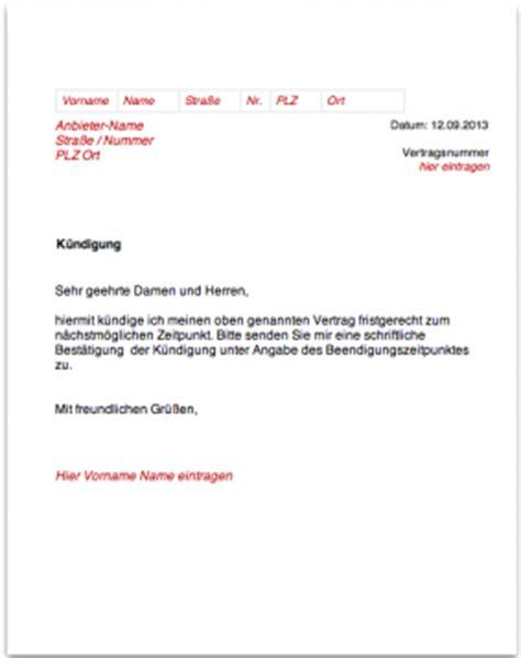Kfz Versicherung K Ndigen Unterlagen by K 252 Ndigungsschreiben Wichtige Angaben