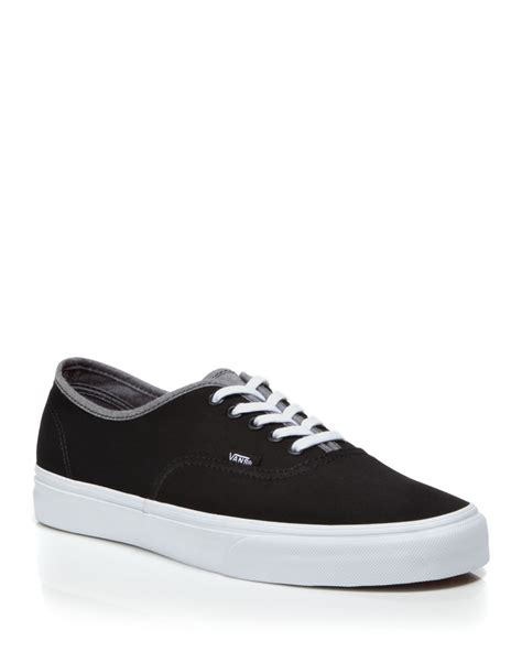Lace Up Sneakers vans authentic lace up sneakers in black for lyst