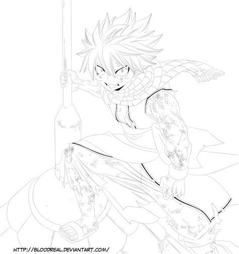 dragon slayer coloring page natsu dragneel the fire dragon slayer by advance996 on