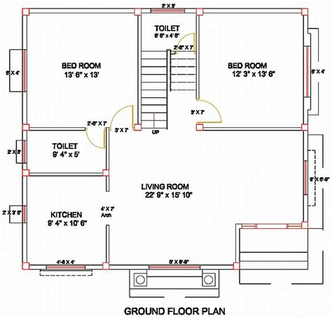 Apartment Floor Plans With Dimensions by Column Layout For A Residence Civil Engineering Civil