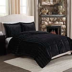 King Size Bed Feather And Black Buy Fancy Fur Reversible Comforter Set In