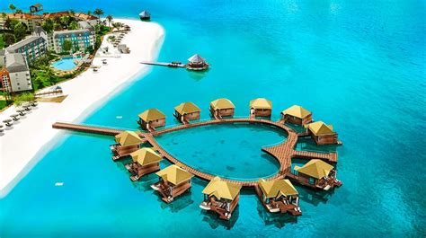 sandals south coast opens booking on overwater bungalows jamaica for couples resorts daily