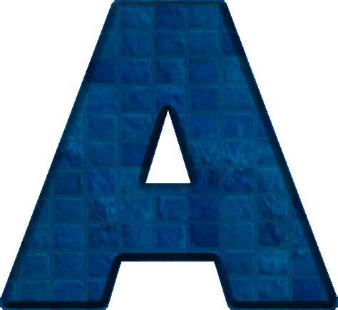 Letter A Presentation Alphabets Blue Tile Letter A