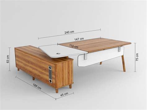 profondità scrivania scrivania moderna da ufficio studio con mobile di servizio
