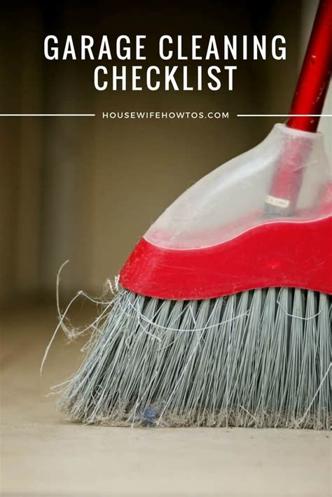 garage cleaning checklist printable