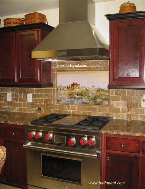 tuscan tile murals kitchen backsplashes tuscany tiles