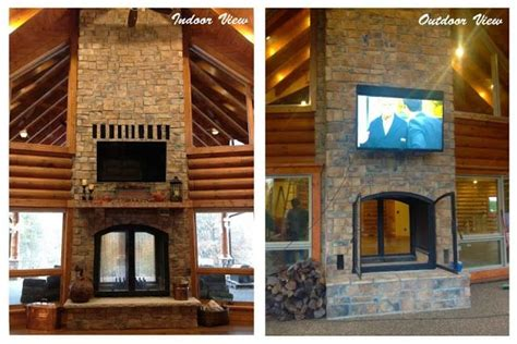 Indoor Outdoor Sided Fireplace by Pin By Shara Capper On Outdoor Living