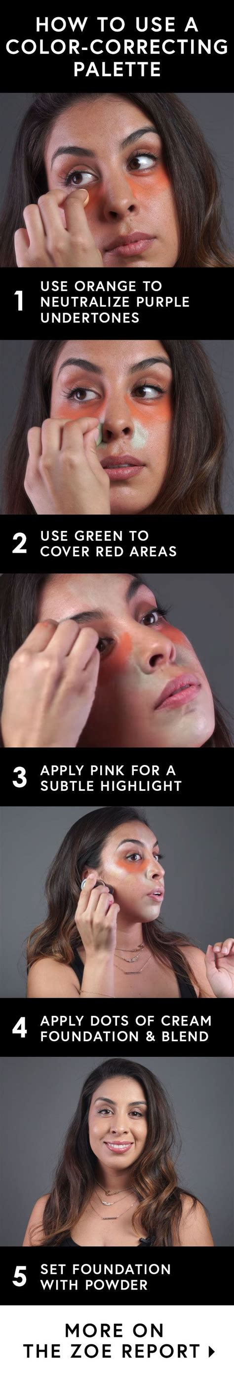 how to use colored concealer how to use a color correcting palette color