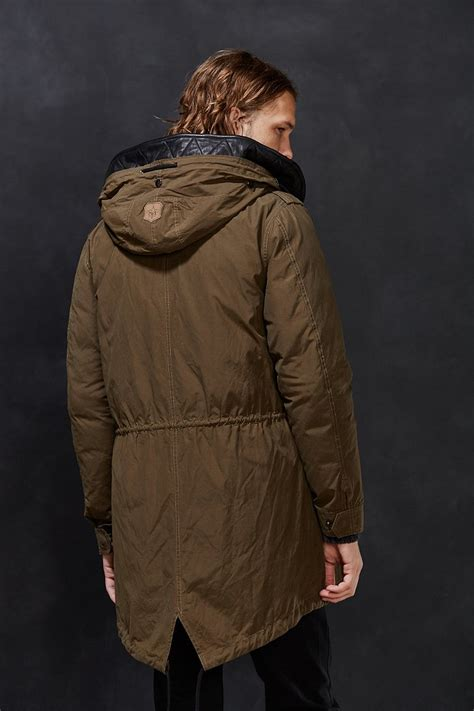 Layer Parka Jacket lyst mackage chip layer parka jacket in brown for