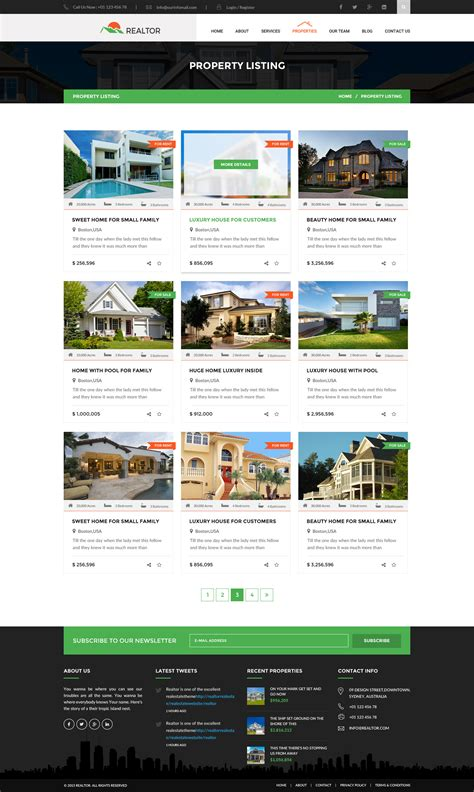 Realtor Real Estate Html Template By Wpmines Themeforest Real Estate Listing Template