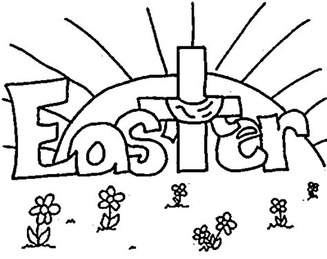 coloring page easter religious christian easter coloring pages