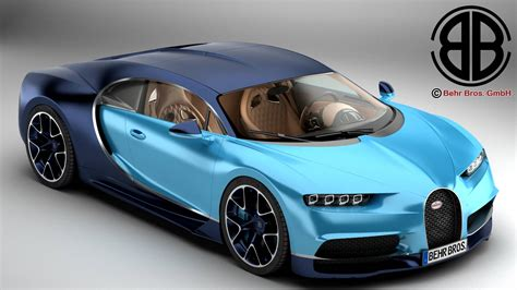 model of bugatti bugatti chiron 2017 3d model vehicles 3d models modern 3ds