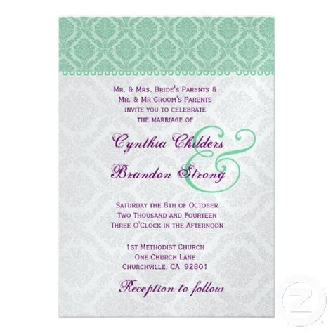 purple and green wedding invitation templates 1000 images about wedding purple mint on